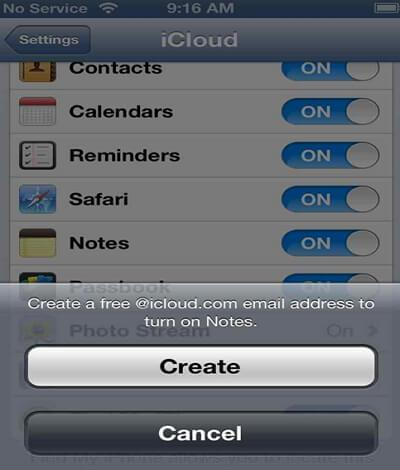 sync iphone with icloud