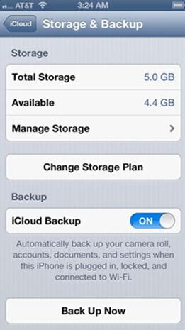 Check iCloud storage to Sync iPhone with iCloud