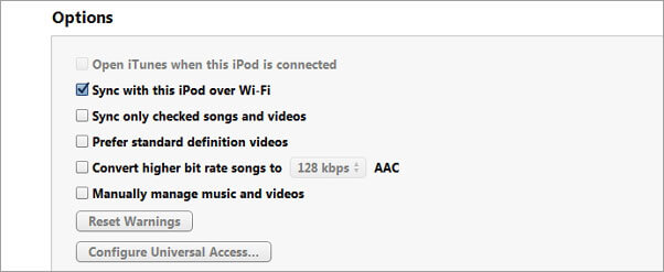 how to sync ipod to itunes