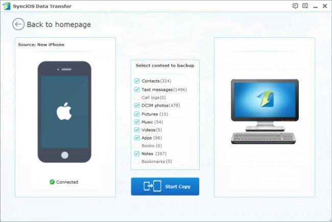Übertragung von Apps vom iPad auf einen Computer mit iPad-Übertragungssoftware von Drittanbietern - Syncios