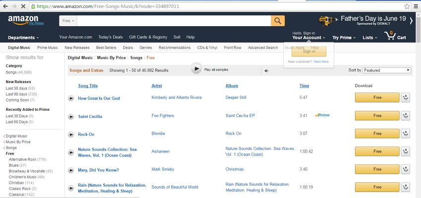 kostenlose musik für ipod touch/nano/shuffle erhalten-Amazon
