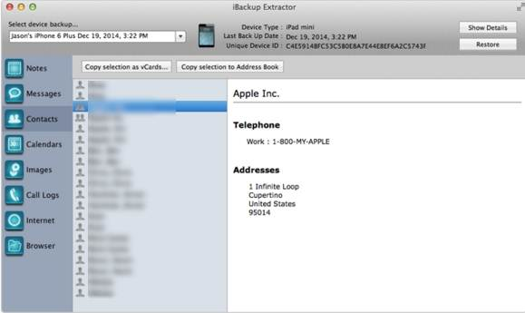 iOS-Backupsoftware - iBackup Extractor