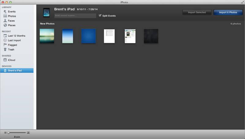 transfer photos from ipad to mac without tools