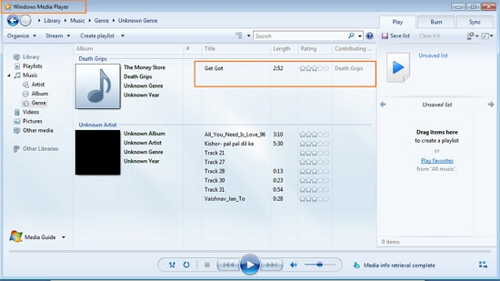 transfer music from iPod to Windows Media Player using dr.fone - Transfer (iOS)