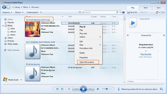 transfer music from Windows Media Player to iPod using dr.fone - Transfer (iOS)