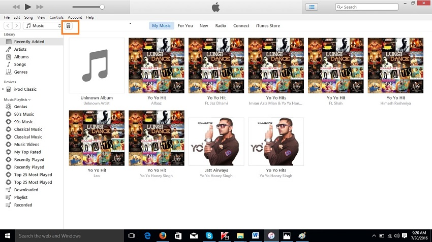 Transfer music from ipod classic to iTunes-ipod in itunes