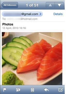 Übertragung von Bildern vom iphone zuFlash