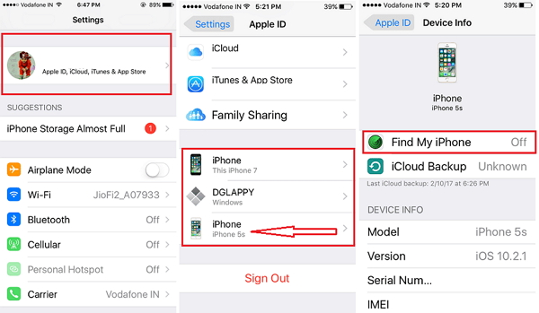 how to find my iphone with apple id
