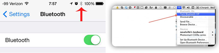 how to use airdrop from mac to iphone - Turn on Bluetooth on iPhone and Mac