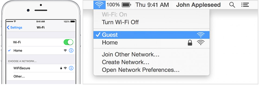 how to use airdrop from mac to iphone - Turn on Wi-Fi on iPhone and Mac
