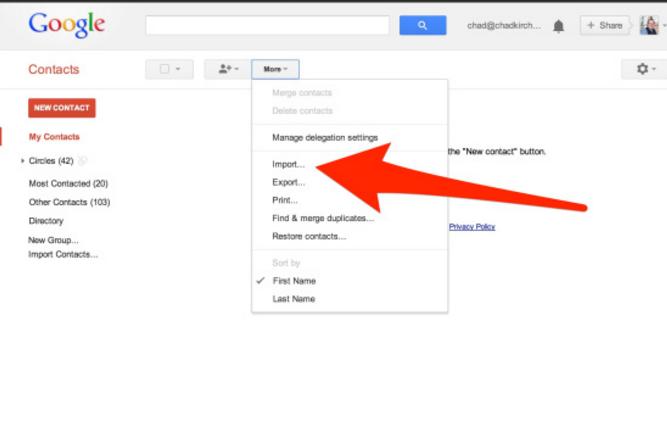 salvaguardar contatos do icloud para o gmail