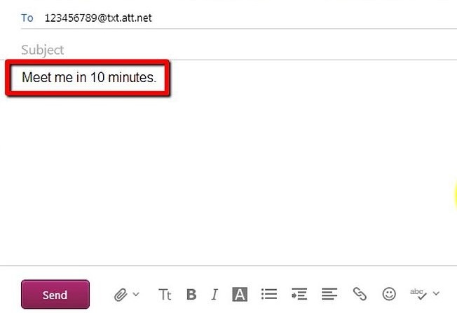Easy steps to send text message via E-mail, or vice versa