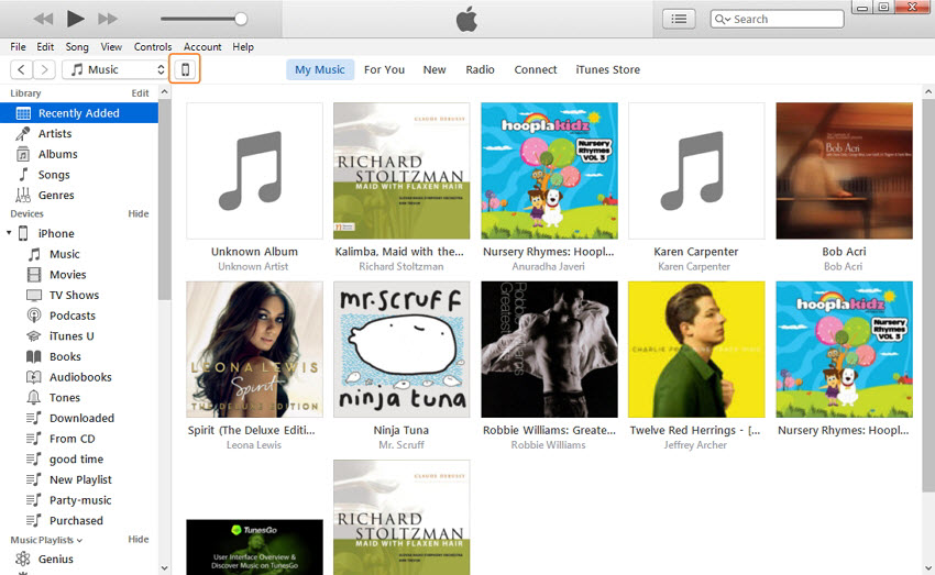Transfer MP3 to iPhone via iTunes