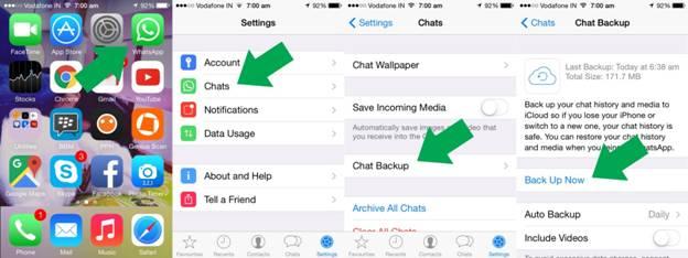 come fare il backup delle conversazioni whatsapp automaticamente
