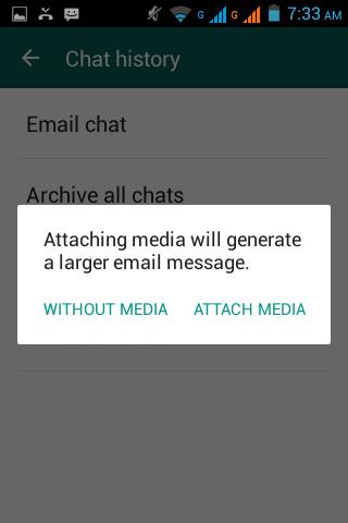 come fare il backup dei messaggi whatsapp via e mail