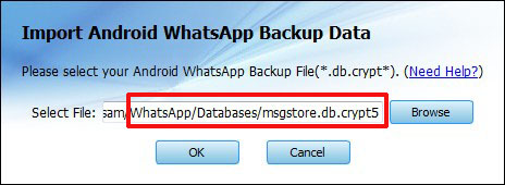 whatsapp backup extractor-Select the encrypted backup file