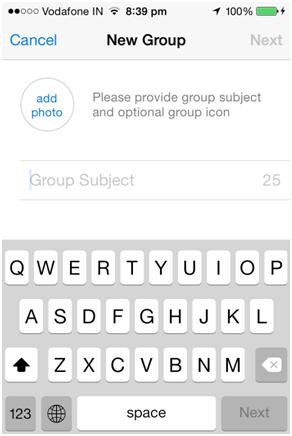 criar um grupo no whatsapp