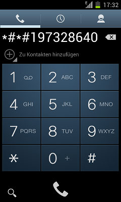 Open the Galaxy Dialer